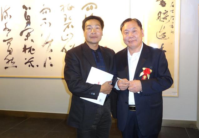 王老师与北京书法家王厚祥先生在一起-新闻动态-王忠